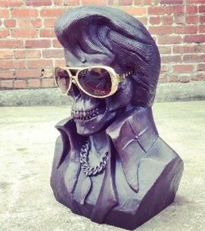 The King is Dead Bronze Sculpture by Frank Kozik | Plastic and Plush | Contemporary Art & Culture | Scoop.it