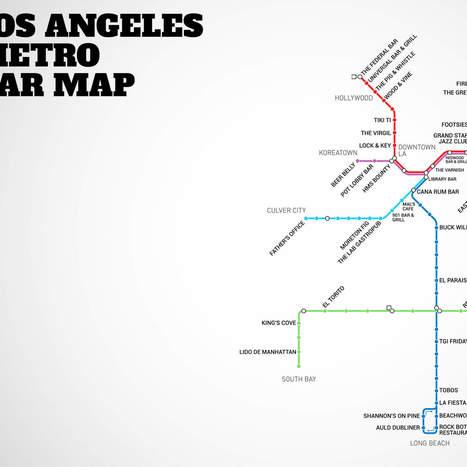 LA's first-ever Metro Rail Bar Map | Liquor | Scoop.it