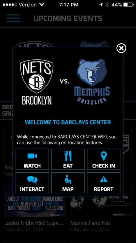 #FanExperience Barclays Center Creates A Digital Fan Experience Via Interactive App | Des idées à prendre ailleurs... | Scoop.it
