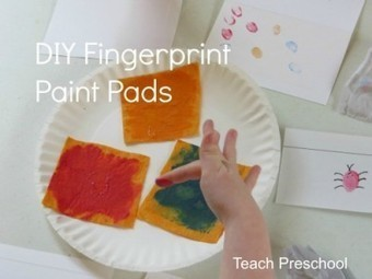 DIY fingerprint paint pads and bugs | Teach Preschool | Scoop.it