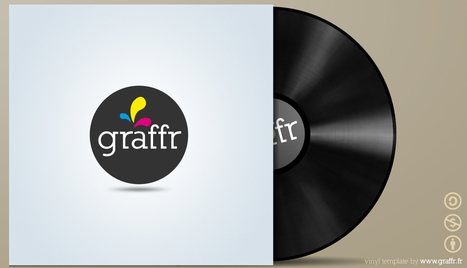 FREE PSD -  Vinyl Cover Template | G-Tips: Design Ressources | Scoop.it