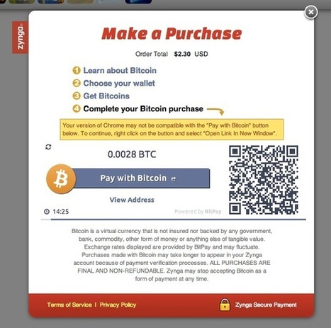 Zynga Links Up With BitPay For A Bitcoin Payment Test In FarmVille 2, CityVille And Other Web Games | TechCrunch | Business | Scoop.it