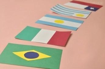 Guirnalda con banderas de los países del mundial Utilisima | Hecho en casa | Scoop.it