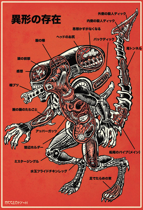 An Anatomical Guide To Alien | And Geek for All | Scoop.it