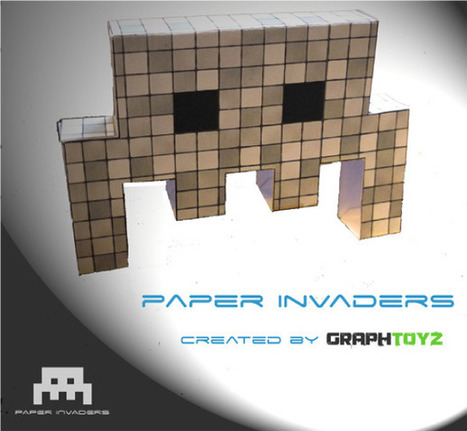 Paper Invaders by GraphToyz (x4)   Vade RETROGames sans tanasse!   Scoop.it