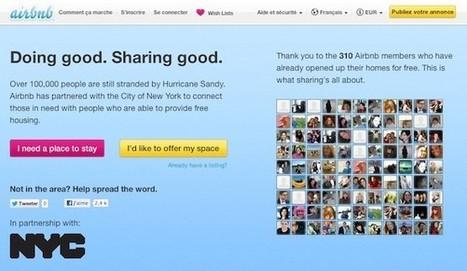 Airbnb au service des victimes de l'ouragan Sandy | Vendre locations de vacances et chambres d'hôtes sur internet | Scoop.it