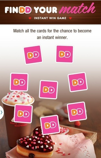 Dunkin' Donuts' mobile instant win game is a sweet deal - Mobile Commerce Daily - Gaming   comingApp   Scoop.it