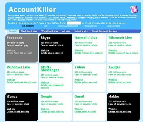 Supprimer un compte facebook : supprimer n'importe quel compte sur internet   A l'ère du webmarketing.   Scoop.it