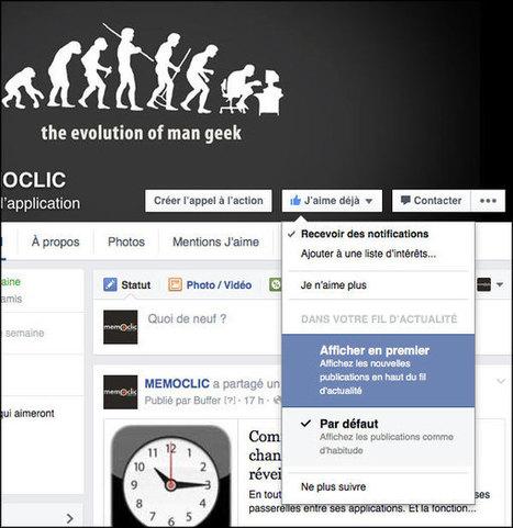 Modifier l'ordre des actualités dans le fil Facebook | Time to Learn | Scoop.it