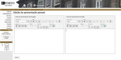 Editar Apresentação Pessoal | SIGARRA | Scoop.it