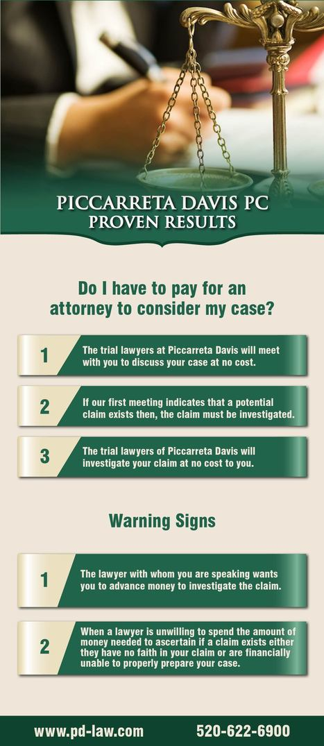 Do I Have to Pay for an Attorney to Consider My Case? | Piccarreta Davis PC | Scoop.it