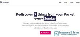 Unhoard : redécouvrez des articles de votre Pocket chaque semaine | Freewares | Scoop.it