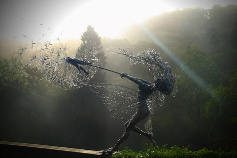 Dramatic Stainless Steel Wire Fairies by Robin Wight | Vloasis sex corner | Scoop.it