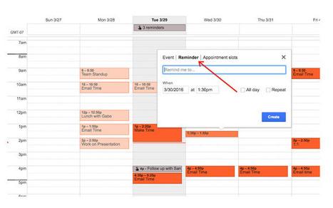 Ya podemos crear y gestionar recordatorios en Google Calendar en la web | Mi albergue digital | Scoop.it