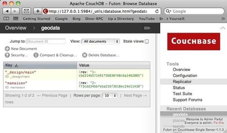 Le NoSQL dans le domaine géospatial : CouchDB et GeoCouch (Couchbase), shp2geocouh, importation de shapefiles et serveur cartographique   Géographie numérique   Scoop.it