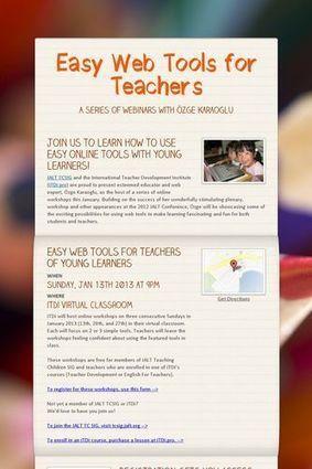 Easy Web Tools for Teachers | ELT Digest | Scoop.it