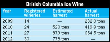 British Columbia Ice Wine Intentions Rise | Autour du vin | Scoop.it