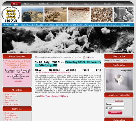 International Natural Zeolite Association | Mineralogy, Geochemistry, Mineral Surfaces & Nanogeoscience | Scoop.it