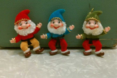 A Trio of Vintage Flocked Christmas Elf Ornaments | Antiques & Vintage Collectibles | Scoop.it