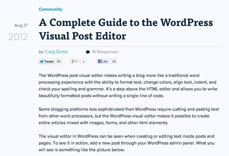 A Complete Guide to the WordPress Visual Post Editor | SEO | Scoop.it