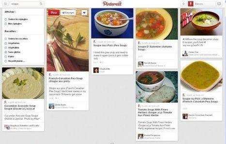 Pinterest lance un nouveau moteur de recherche de recettes • essentielle.be   Social media   Scoop.it