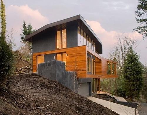 maison bois metal