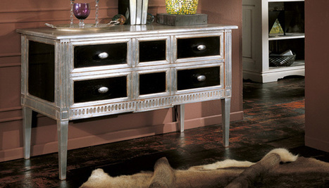 Hand Painted ITALIAN Silver black Commode. MobiLusso.com | Classic French Furniture - Italian Interior designs | Scoop.it