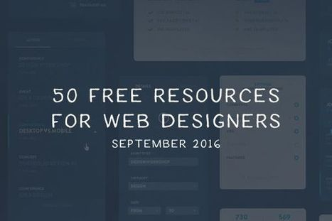 50 Free Web & Mobile UI Kits, Bootstrap Templates, WordPress Themes, Icons & Fonts for Web Designers for September 2016 | El Mundo del Diseño Gráfico | Scoop.it