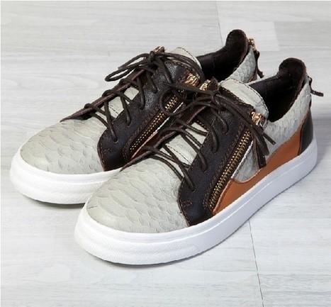 Giuseppe zanotti zebra metallic chain sneakers high tops sale | Giuseppe Zanotti Sneakers | Scoop.it