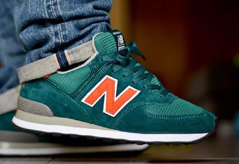 New Balance 574 ID «Miami Dolphins» – la sneaker du jour (28.05.2013) | sneakers-addicted | Scoop.it