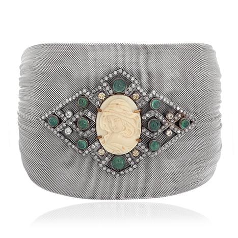 Diamond Mammoth Steel Cuff Bracelet | Wholesale Jewelry | GemcoDesigns | Pave Diamond Bangle | Diamond Jewelry | GemcoDesigns | Scoop.it