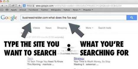 8 Tips For Google Search That Will Streamline Nearly Everything You Do | Ed Tech Lab | Scoop.it