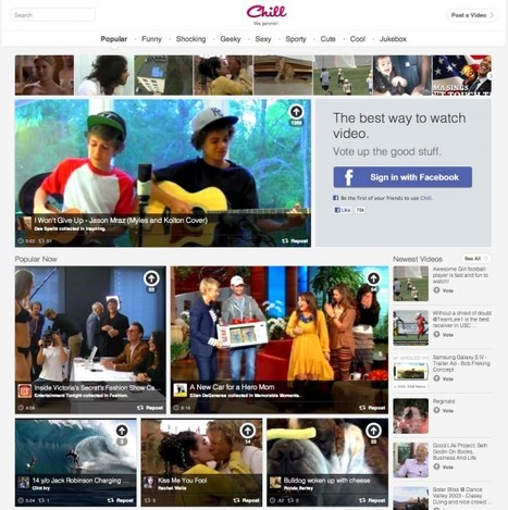 How Chill.com's Social Video Discovery Curation Takes Video Sharing to the Next Level | Curaduria de contenidos - Content curation | Scoop.it