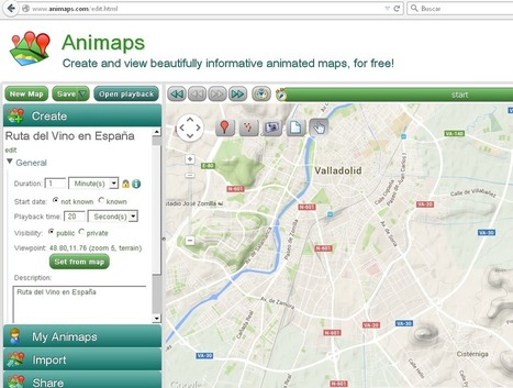 Animaps: Crear mapas interactivos y animados | Recursos Tics para Educadores | Scoop.it