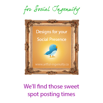 Social Media Tip: Find your own sweet spot posting times - Artful Ingenuity | Twitter Tips For Sharing | Scoop.it