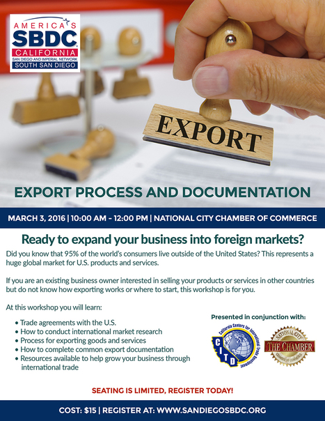 Export Process and Documentation | San Diego Center for International Trade Development | International Trade | Scoop.it