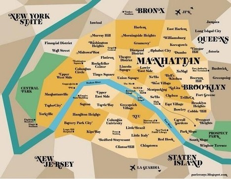 Insolite: La carte de Paris pour les 'new yorkers' | New York et Paris - Capitales. | Scoop.it