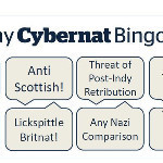 "The BritNats' Better Together campaign lower the #indyref tone posting a new game called ""CyberNat Bingo"" #YesScot - via @Vee_Mack 