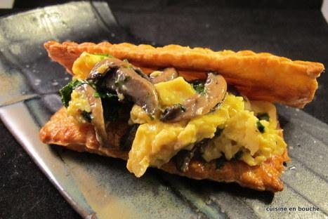 Cuisine en bouche: Oeufs brouillés aux champignons | Cook | Scoop.it