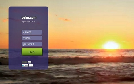 Calm.com Is the Most Relaxing 2 Minutes You'll Spend Online | Life @ Work | Scoop.it