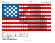 Veteran's Day- Holiday Subtraction | Coloring Squared | Scoop.it