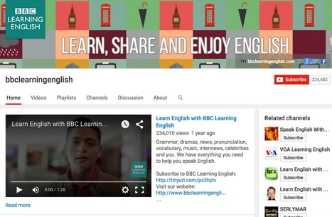 5 Great YouTube Channels for Learning English | Time to Learn | Scoop.it