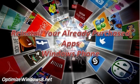 Windows Phone – How to Reinstall the Already Purchased Apps | Windows, Software and PC Performance | Scoop.it