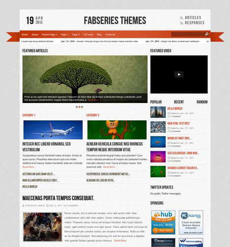 Top 20 Free WordPress Magazine Themes 2013 - Programming, web, graphic resources and reviews | Free WordPress Magazine Themes | Scoop.it