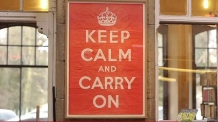 The Story Behind The 'Keep Calm And Carry On' Poster - DesignTAXI.com | Just Story It | Scoop.it