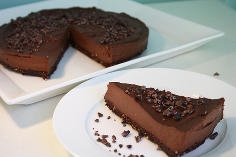 Raw Dairy-Free, Gluten-Free Chocolate Cheesecake | Reboot With ... | Just Chocolate!!! | Scoop.it