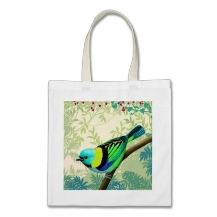 Green Headed Tanager Bird Tote Bag from Zazzle.com | Messenger Bags, Purses & Totes | Scoop.it