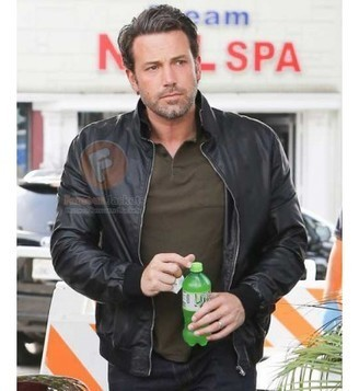 The Accountant Ben Affleck Black Leather Jacket For Mens | Movie Jacket | Scoop.it