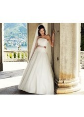 Ball Gown Strapless Brush Train Tulle Ivory Wedding Dress H1ly0048 for $1,023 | Landybridal 2014 wedding dress | Scoop.it