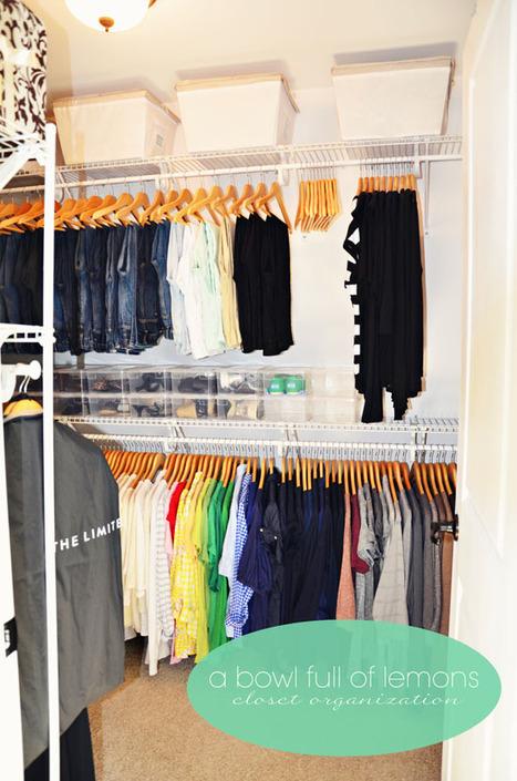 "Home Organization 101 - Week 13 ""The Master Closet"" (Season 3) | A Bowl Full of Lemons | Homey home | Scoop.it"
